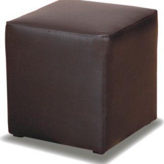 Tempo Kondela Taburet KUBIK - černý + kupón KONDELA10 na okamžitou slevu 3% (kupón uplatníte v košíku)