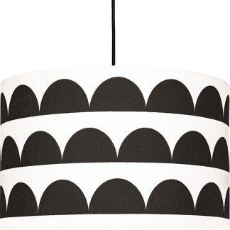 Forclaire Textilní závěsná lampa Půlměsíce - černá