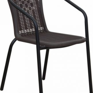 Tempo Kondela Židle VARDA - tmavě šedá / nohy černý kov + kupón KONDELA10 na okamžitou slevu 3% (kupón uplatníte v košíku)
