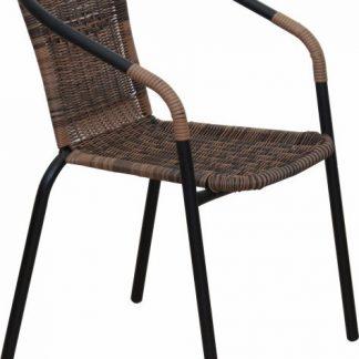 Tempo Kondela Židle DOREN - hnědý ratan / černé nohy + kupón KONDELA10 na okamžitou slevu 3% (kupón uplatníte v košíku)