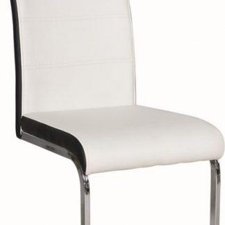 Casarredo Jídelní čalouněná židle H-4 bílá/černá