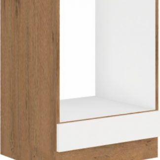 Tempo Kondela Spodní skříňka VEGA D GAZ BB - bílá extra vysoký lesk HG / dub lancelot + kupón KONDELA10 na okamžitou slevu 3% (kupón uplatníte v košíku)