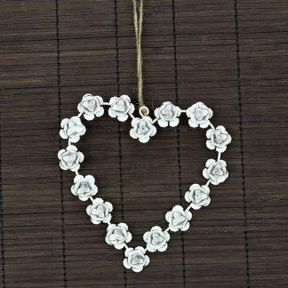Autronic Kovové srdce s růžemi ZA8660
