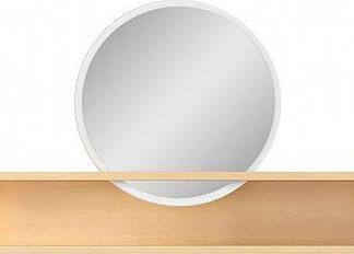 BRW Zrcadlo Pori NAD - bílý lesk