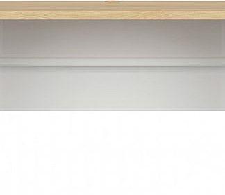 BRW Psací stůl Princeton BIU/ - bílý lesk/dub polský