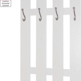 Tempo Kondela Věšáková stěna KORADO NEW - bílá + kupón KONDELA10 na okamžitou slevu 3% (kupón uplatníte v košíku)