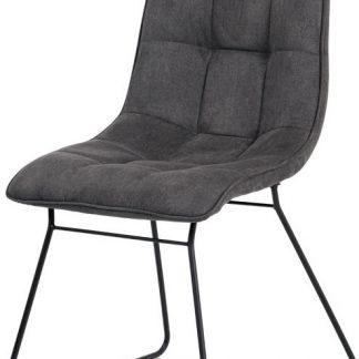 Autronic Jídelní židle DCH-414 GREY3 - šedá látka