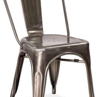 Casarredo Jídelní ová židle LOFT ocel kartáčovaná
