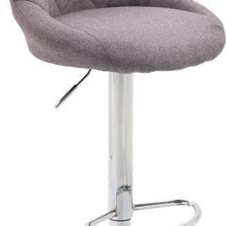 Tempo Kondela Barová židle MARID - šedohnědá TAUPE / chromová + kupón KONDELA10 na okamžitou slevu 3% (kupón uplatníte v košíku)