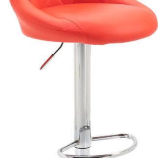Tempo Kondela Barová židle MARID - červená / chromová + kupón KONDELA10 na okamžitou slevu 3% (kupón uplatníte v košíku)