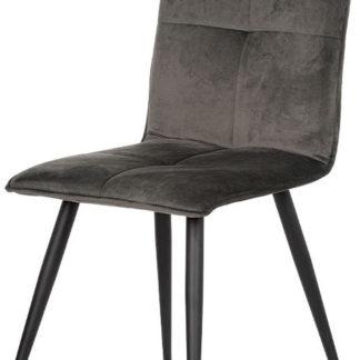 Autronic Jídelní židle DCL-601 GREY4 - šedá látka samet / kov černý mat
