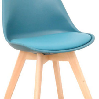 Tempo Kondela Židle BALI 2 NEW - petrolej / buk + kupón KONDELA10 na okamžitou slevu 3% (kupón uplatníte v košíku)