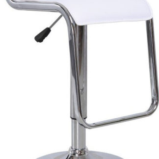 Tempo Kondela Barová židle Ilana NEW - ekokůže bílá / chrom + kupón KONDELA10 na okamžitou slevu 3% (kupón uplatníte v košíku)