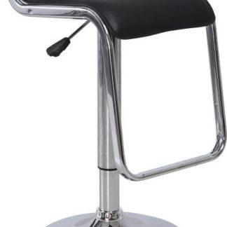 Tempo Kondela Barová židle Ilana NEW - ekokůže černá / chrom + kupón KONDELA10 na okamžitou slevu 3% (kupón uplatníte v košíku)