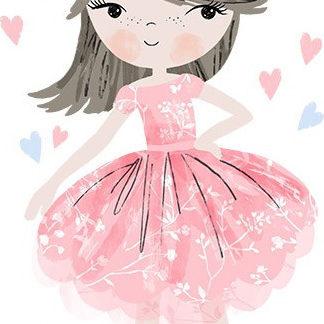 Pastelowelove Samolepka na zeď Princezna - růžová