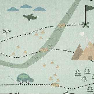 Livone Dětský koberec mapa pokladů - mátový 90x