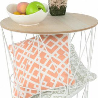 Tempo Kondela Příruční stolek NANCER TYP 3 - přírodní/bílá + kupón KONDELA10 na okamžitou slevu 3% (kupón uplatníte v košíku)