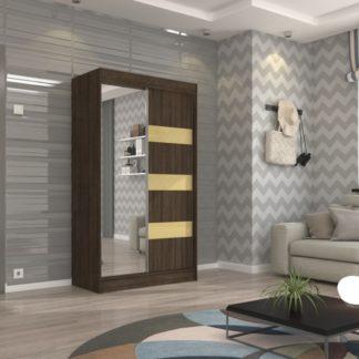 Šatní skříň wenge zrcadlové dveře 120 cm Palma