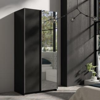 Skříň s posuvnými dveřmi Tithali 100 cm černá