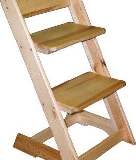 ATAN Dětská rostoucí židle - borovice Borovice - modrá
