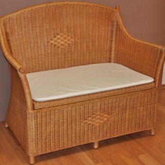 Axin Trading Ratanová lavice s úložným prostorem medová