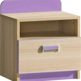 Tempo Kondela Noční stolek EGO L12 - fialová + kupón KONDELA10 na okamžitou slevu 3% (kupón uplatníte v košíku)