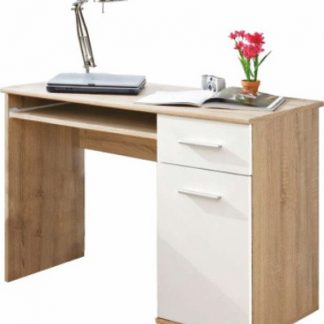 Tempo Kondela PC stůl EMIO Typ 06 - dub sonoma/bílý + kupón KONDELA10 na okamžitou slevu 3% (kupón uplatníte v košíku)