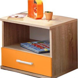 Tempo Kondela Noční stolek EMIO Typ 05 - oranžový + kupón KONDELA10 na okamžitou slevu 3% (kupón uplatníte v košíku)