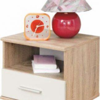Tempo Kondela Noční stolek EMIO Typ 05 - bílý + kupón KONDELA10 na okamžitou slevu 3% (kupón uplatníte v košíku)