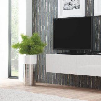 Halmar Televizní stolek Livo RTV-W korpus bílý/bílá vysoký lesk