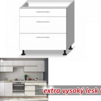 Tempo Kondela Kuchyňská skříňka LINE WHITE D 3 ZAS + kupón KONDELA10 na okamžitou slevu 3% (kupón uplatníte v košíku)