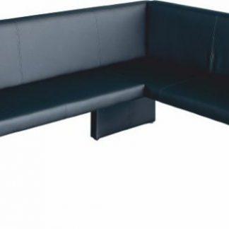 Tempo Kondela Rohová lavice MODERN černá - PRAVÁ + kupón KONDELA10 na okamžitou slevu 3% (kupón uplatníte v košíku)