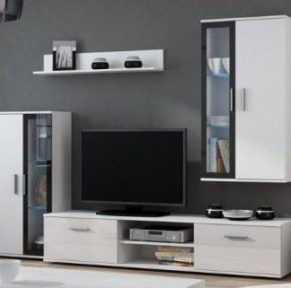 Cama Obývací stěna Dora - bílá/černá