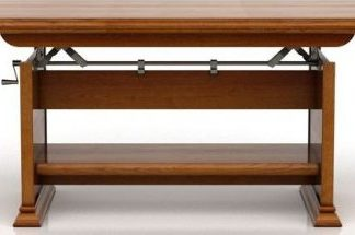 BRW Konferenční stolek Kent ELAST130/170 Kaštan