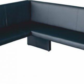 Tempo Kondela Rohová lavice MODERN černá - LEVÁ + kupón KONDELA10 na okamžitou slevu 3% (kupón uplatníte v košíku)