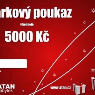 ATAN Vánoční dárkový poukaz v hodnotě 5000 Kč Tištěný