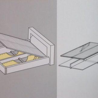 BRW Úložný prostor k posteli 140 x 200