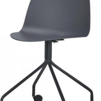 Tempo Kondela Židle BRUNA - tmavě šedá + černá