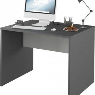 Tempo Kondela PC stůl Rioma TYP 12 - grafit / bílá + kupón KONDELA10 na okamžitou slevu 3% (kupón uplatníte v košíku)