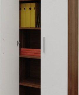 Tempo Kondela Kancelářská skříň JOHAN NEW 05 - švestka/bílá + kupón KONDELA10 na okamžitou slevu 3% (kupón uplatníte v košíku)