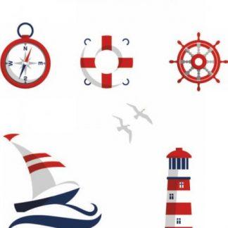 Tempo Kondela Sada nálepek SVEND - námořník + kupón KONDELA10 na okamžitou slevu 3% (kupón uplatníte v košíku)