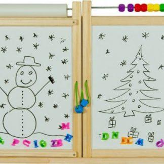 Forclaire Dětská magnetická/křídová tabule na stěnu - přírodní
