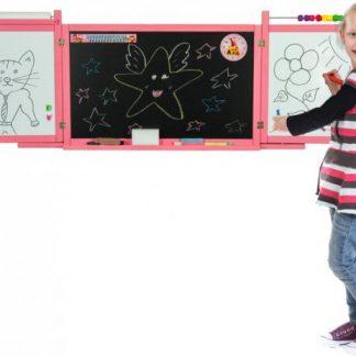 Forclaire Dětská magnetická/křídová tabule na stěnu - růžová