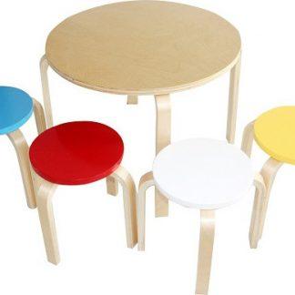 Tempo Kondela Dětský set 1 + 4 SIGRID - březové dřevo