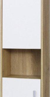 Falco Závěsná vitrína Parker R7 - dub lefkas/bílá