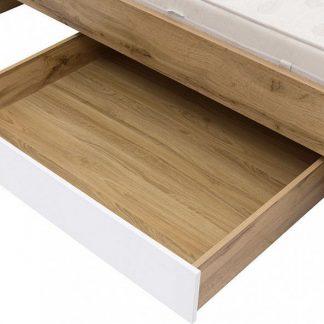 BRW Šuplík pod postel Zele SZU-DWO - dub wotan/bílý lesk