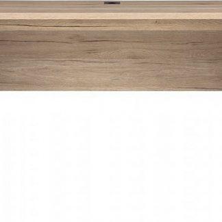 BRW Psací stůl Executive BIU/ - Šedý wolfram/Dub San Remo světlý