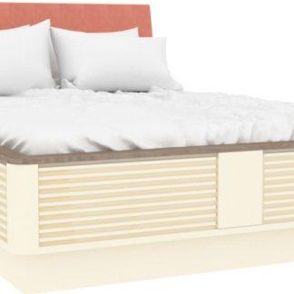 Lubidom Dětská postel Calypso 120x190 cm měkké čelo - štichlak/sonoma H tmavá