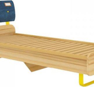 Lubidom Dětská postel Jeans 80x190 - santana / žlutý