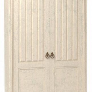 Lubidom Skříň 2-dvéřová Amelie do obývacího pokoje - bílá provence